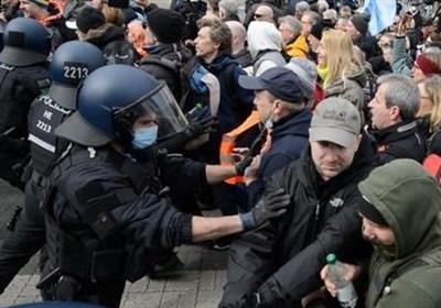 برگزاری اعتراضات ضد محدودیتهای کرونایی در شهرهای بزرگ آلمان