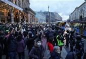 شرکت 6 هزار نفر در تظاهرات اعتراض آمیز در پایتخت روسیه