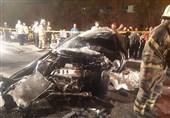 مرگ راننده لیفان میان قطعات متلاشی شده خودرو + تصاویر