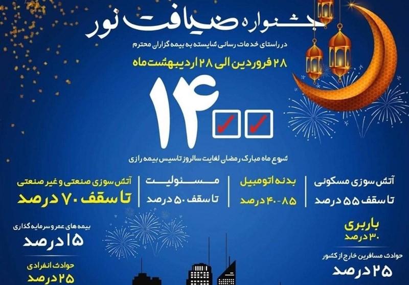 جشنواره ضیافت نور ماه مبارک رمضان لغایت سالروز تاسیس بیمه رازی