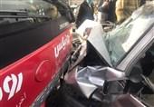 تصادف شدید پراید با اتوبوس BRT در خطویژه/ مصدومیت شدید 3 نفر + فیلم و تصاویر