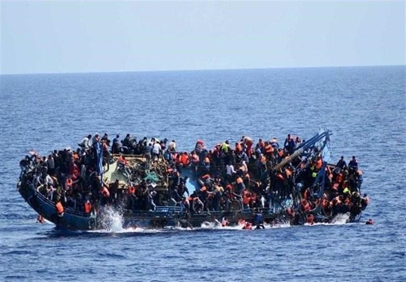 غرق شدن یک قایق حامل 130 پناهجو در سواحل لیبی