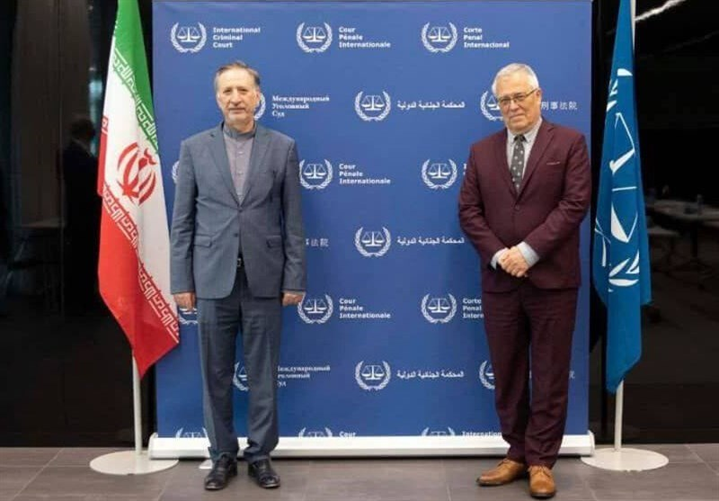 مساعد ظریف یلتقی رئیس المحکمة الجنائیة الدولیة