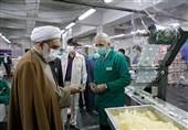 بازدید تولیت آستان قدس از مراحل تهیه و آماده سازی افطاری حرم مطهر رضوی