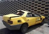 واژگونی تاکسی پس از پرش 3 متری + تصاویر