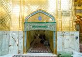هنر دست بانوان اصفهانی در ایوان مطلای حرم حضرت عباس نصب شد + عکس