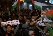 Palestinians in Gaza City Express Support for Protesters in Al-Quds (+Video)