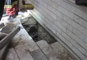 سقوط عجیب خانم جوان به چاه باریک در منزل ویلایی + تصاویر
