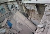 2 مصدوم بر اثر ریزش آوار در ساختمان در حال تخریب + تصاویر