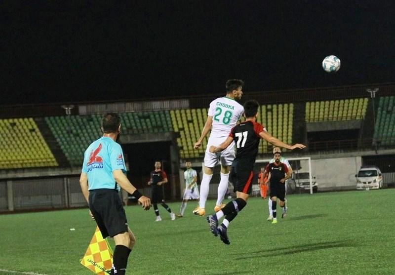لیگ دسته اول فوتبال  چوکا در غیاب پاشازاده، صدرنشین را متوقف کرد