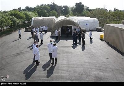 برپایی بیمارستان صحرایی ارتش در قزوین