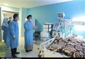 عیادت نماینده ولی فقیه در استان آذربایجان شرقی از آتش نشان فداکار+تصاویر