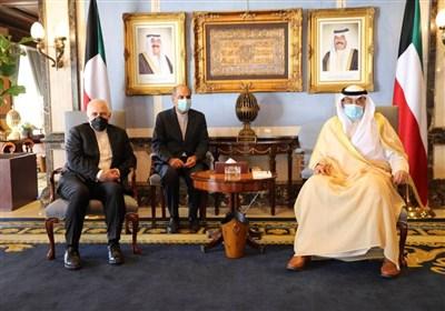 ظریف با نخستوزیر کویت دیدار کرد