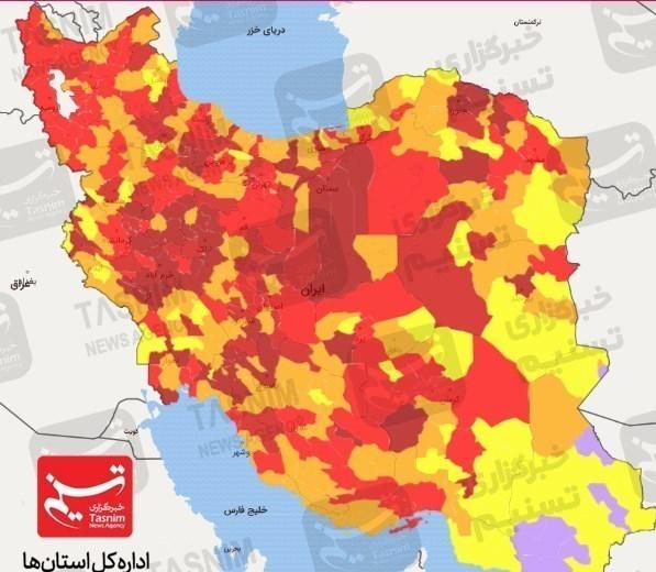 جدیدترین اخبار کرونا در ایران  نعل وارونه ویروس منحوس/ افزایش ۱۹ درصدی تعداد فوتیها / آتش زیرخاکستر کرونا با نسیم عادیانگاری شعلهور میشود + نقشه و نمودار