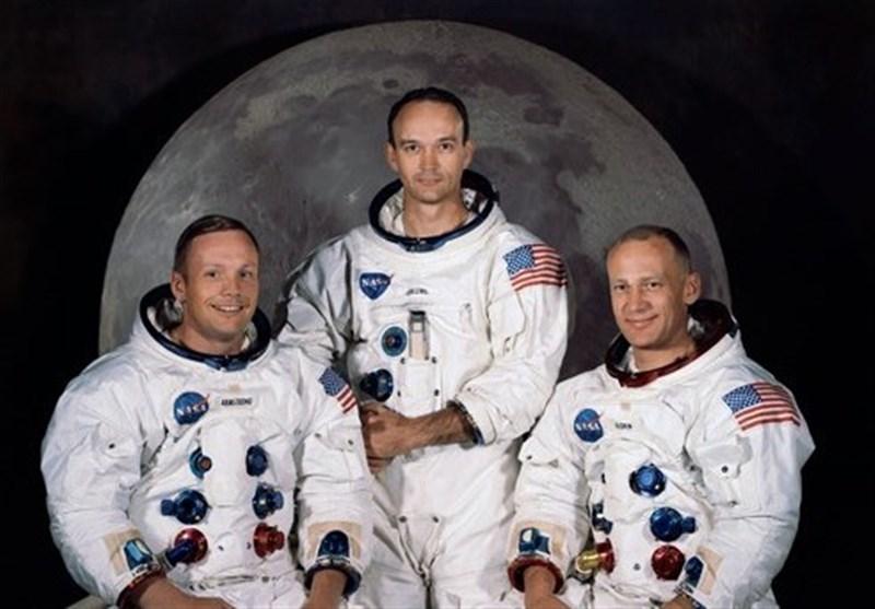 """تصویر تاریخی """"مایکل کالینز"""" از کره زمین بر فراز ماه"""
