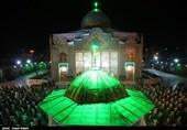 مراسم شب قدر در امامزاده حسین(ع) قزوین به روایت تصویر