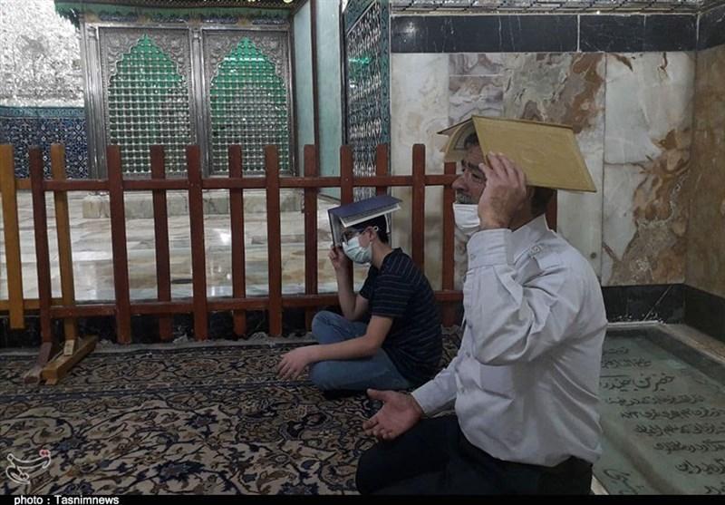 نخستین شب قدر در حرم حضرت جعفر بن موسی الکاظم (ع) پیشوا + تصاویر