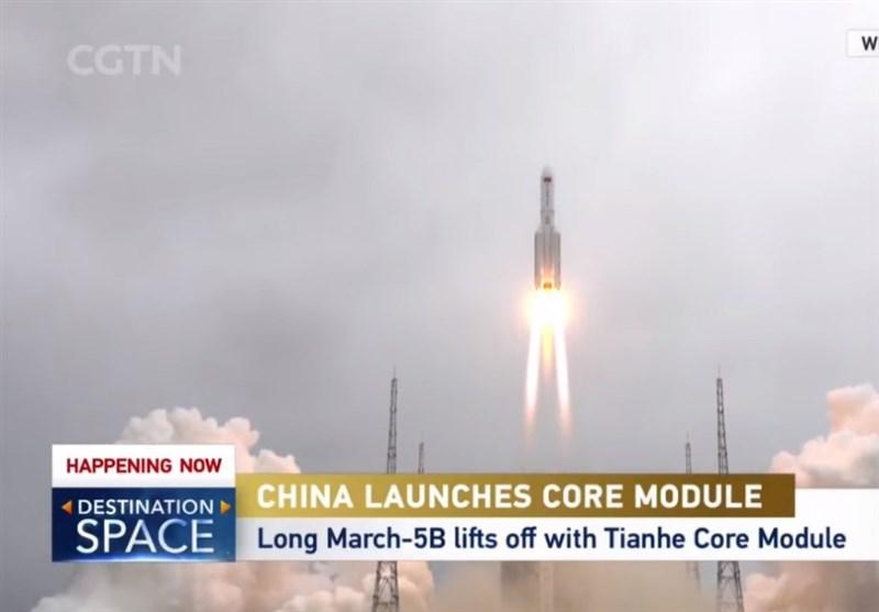 """موشک غولپیکر چینی """"لانگ مارچ 5"""" در حال سقوط کنترل نشده به کره زمین!"""