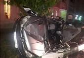 واژگونی پژو 206 پس از تصادف شدید با پژو 2008 + تصاویر