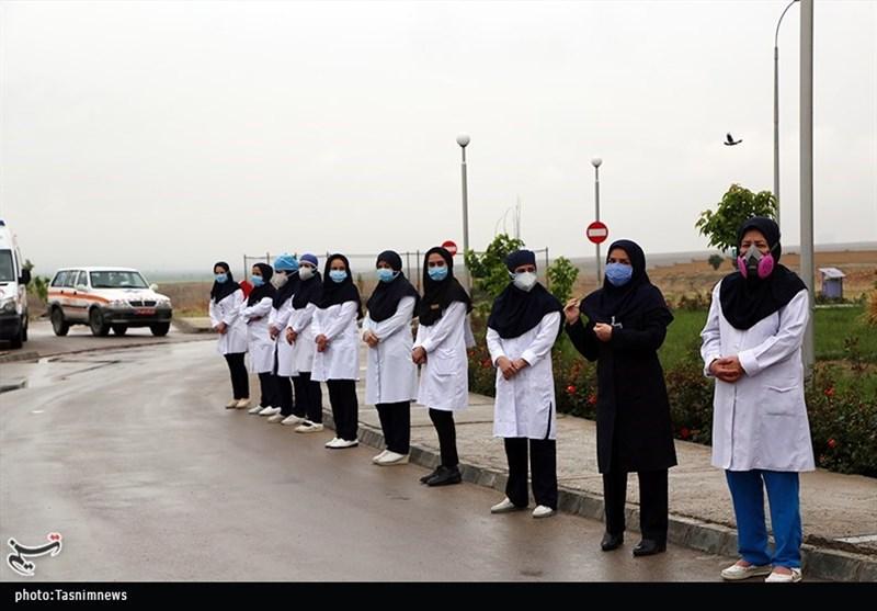 مراسم تشییع و بدرقه پیکر دومین شهید مدافع سلامت خراسان شمالی به روایت تصاویر