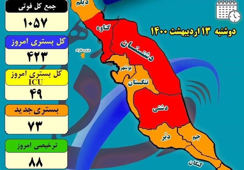 بستریهای کرونایی در بیمارستانهای استان بوشهر کاهش یافت