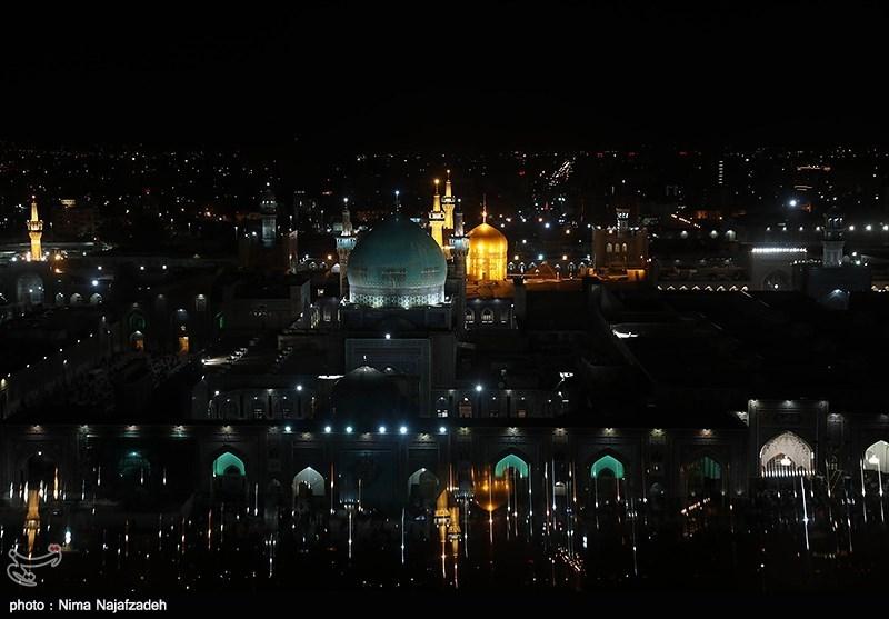 Worshippers Hold Vigil at Imam Reza Shrine in Mashhad, Respecting Social Distancing