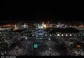 Worshippers Hold Vigil at Imam Reza Shrine in Mashhad, Respecting Social Distancing