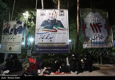 مراسم احیای شب بیست و یکم ماه رمضان در گلزار شهدای اصفهان