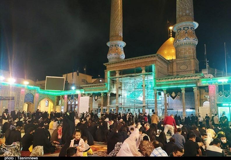 عزاداری مردم شهرری در سوگ شهادت امام علی(ع) / مردم در حرم سیدالکریم (ع) به عزاداری پرداختند + فیلم