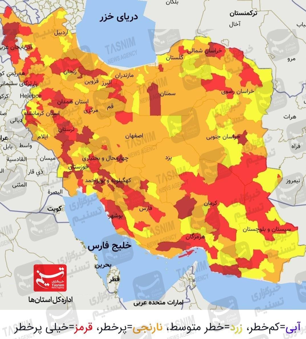 جدیدترین اخبار کرونا در ایران| بیماریابی فعال پاشنه آشیل شکست ویروس منحوس/ فوت ماهانه ۴۸۸۱ نفر /کاهش ۵۱ درصدی شهرستانهای قرمز/ هر ۴ دقیقه یک مورد فوتی + نقشه و نمودار