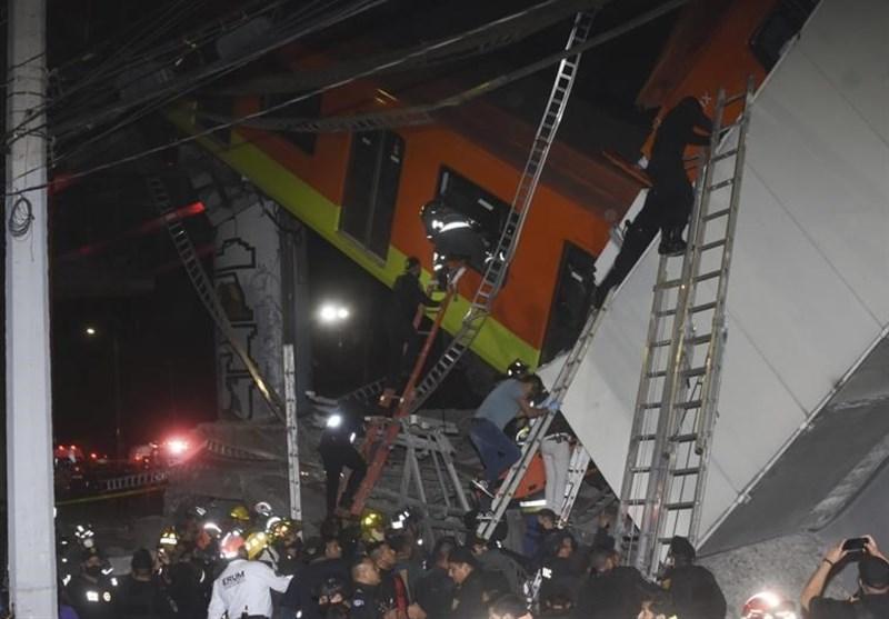 وعده دولت مکزیک برای مجازات عاملان اصلی حادثه ریزش پل قطار شهری