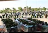 تشییع و تدفین 3 شهید تازه تفحصشده در دزفول + تصاویر