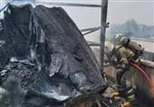 آتشسوزی شدید در پشتبام یک ساختمان در خیابان کارگر + فیلم و تصاویر