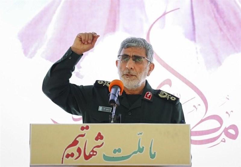 سردار قاآنی: نیروی قدس سپاه الگو و شاخص مجاهدان و علاقهمندان فرهنگ مقاومت است