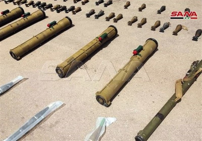 Syrian Authorities Seize Terrorists' Weapons in Daraa Hideout