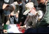 تشییع باشکوه پیکر شهید مدافع امنیت در قروه/ شهید نامور در خانه ابدی آرام گرفت+تصاویر