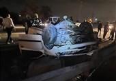 واژگونی پژو 206 در جاده ورامین + تصاویر