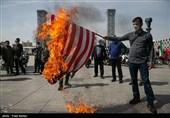 مراسم نمادین خودجوش روز قدس در میدان امیرچقماق؛ مردم یزد پرچم رژیم جنایتکار صهیونیستی را به آتش کشیدند