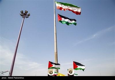مراسم برافراشته شدن پرچم فلسطین به مناسبت گرامیداشت روز جهانی قدس - اهواز