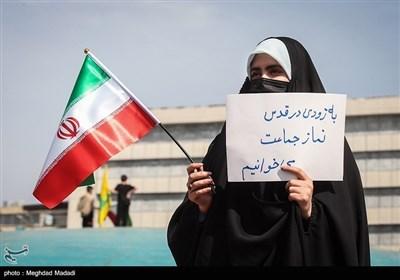 بمناسبة یوم القدس العالمی..مراسم رمزیة فی ساحة الثورة بالعاصمة طهران