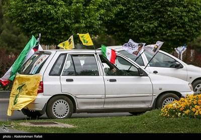 راهپیمایی خودرویی روز جهانی قدس -همدان