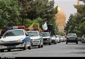 راهپیمایی خودجوش خودرویی شهروندان آران و بیدگل در روز قدس به روایت تصویر