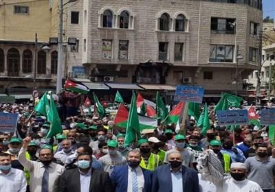 تظاهرات گسترده اردنیها در همبستگی با ساکنان محله «شیخ جراح» در قدس اشغالی