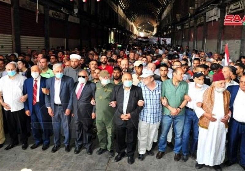 دمشق أحیت یوم القدس العالمی: لا خیار لمواجهة کیان الاحتلال إلا بالمقاومة