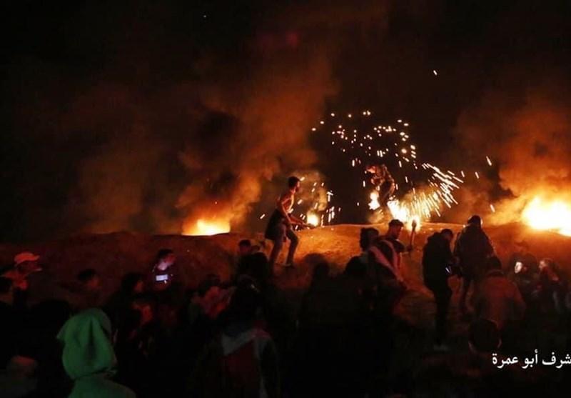 پرتاب موشک از غزه به سوی اراضی اشغالی+فیلم