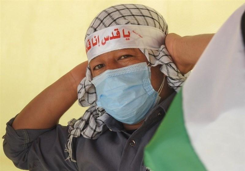حمایت رزمندگان فاطمیون در سوریه از مظلومیت فلسطین+ عکس