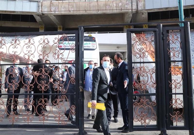 حاشیه دیدار پرسپولیس- تراکتور| حضور عزیزی خادم و اعتراضهای خطیبی و گلمحمدی