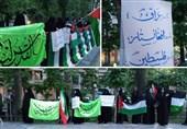 برگزاری تجمع دانشجویی مردمی در حمایت از فلسطین