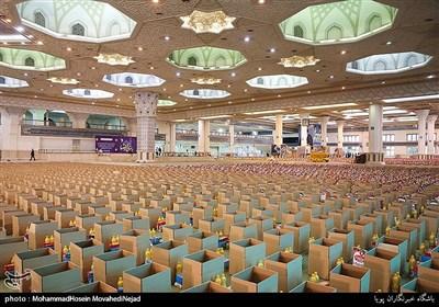 کمک مومنانه یکصد و ده هزار بسته ارزاق به مناسبت عید سعید فطر در قالب پویش مهر رضوی