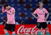 لالیگا| ضربه مهلک بارسلونا به شانس قهرمانیاش با تساوی در خانه لوانته